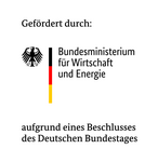 Logo BMWI mit Förderhinweis gefoerdert durch